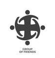 group of friends glyph icon vector image vector image