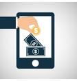 hand save money dollar icon vector image