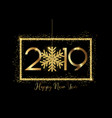 happy new year background with gold lettering and vector image vector image