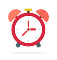 home alarm clock flat isolated vector image