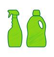 household chemical bottles sign lemon vector image vector image