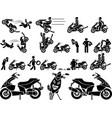 ICON MAN BIKER vector image vector image