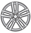 image of light-alloy rims vector image vector image