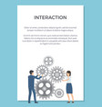 interaction visualization vector image vector image