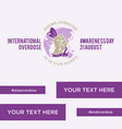international overdose awareness day vector image vector image