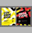 layout poster template design for sport event vector image
