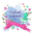 logo for knitting needlework in style hand vector image