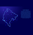 map montenegro from the contours network blue vector image vector image
