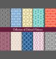 modern floral pattern set in vintage style vector image