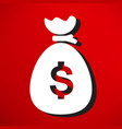 moneybag icon vector image vector image