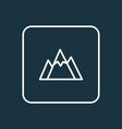 mountains outline symbol premium quality isolated vector image