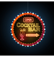 Neon sign Cocktail bar vector image vector image