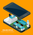 online office concept isometric vector image vector image