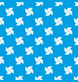 origami shuriken pattern seamless blue vector image vector image