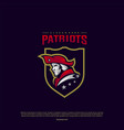 patriots logo design head patriots logo design vector image
