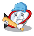 playing baseball side mirror isolated with the vector image vector image