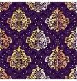 purple seamless Rococo floral vector image vector image