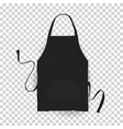 realistic black kitchen apron vector image