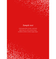 Red page corner design template vector image vector image