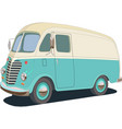 retro food van color cartoon vector image vector image