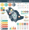 Saudi Arabia map with Infographic elements vector image vector image