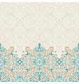Seamless border ornate in Eastern style vector image