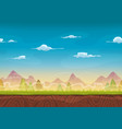seamless mountains landscape for ui game vector image vector image