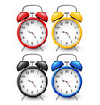 set of four alarm clocks vector image