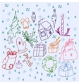 Set of symbols Christmas and winter vector image