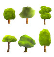 set of trees low poly style geometric poligonal vector image