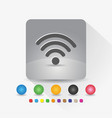 signal wifi icon sign symbol app in gray square vector image vector image