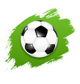 soccer ball with green blot vector image vector image