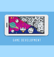 space mobile game development banner template vector image