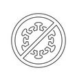 stop coronavirus sign linear icon on white vector image vector image