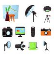 studio and photo sign vector image vector image