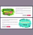summer big sale discount off summer sales advert vector image
