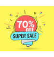 super sale weekend special offer vector image