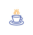 tea or coffee line icon hot drink sign vector image
