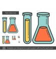 Test tubes line icon vector image vector image