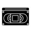 video cassete icon black vector image vector image