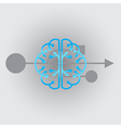 wave from the brain vector image vector image