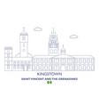 kingstown city skyline vector image