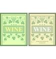 Wine labels vector image