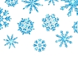 Winter Background with Blue Snowflakes for New vector image