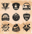 black sewing and tailor labels collection vector image