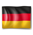 A German flag vector image vector image