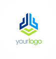 abstract building business logo vector image