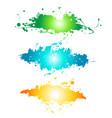 abstract painted grunge stains background vector image