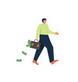 bank loan concept flat isolated vector image vector image