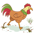 Beautiful rooster vector image